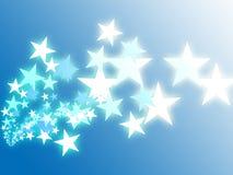 Flying stars illustration Royalty Free Stock Photo