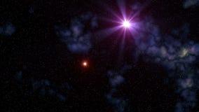 Flying stars (UFO). Stars (UFO) fly against the star sky stock video