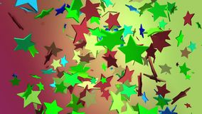 Flying stars in various colors. In backgrounds stock illustration