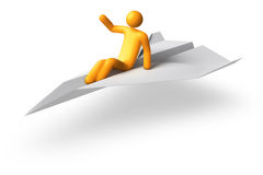 Flying Stick Figure Stock Images