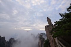 Flying Stone on Mt. Huangshan Royalty Free Stock Image