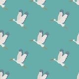 Flying storks pattern Stock Photo