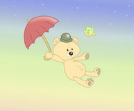 Flying Stuffed Bear Stock Photography