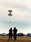 Flying stunt kits Royalty Free Stock Image