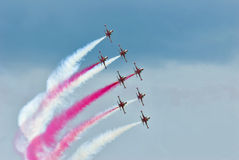 Flying stunt team Royalty Free Stock Photo