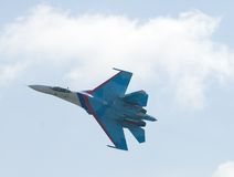Flying SU-27 Royalty Free Stock Photo