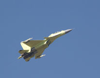 Flying Su-30 Stock Photography