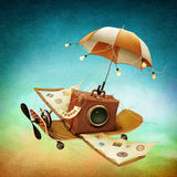 Flying suitcase Royalty Free Stock Photo