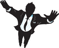 Flying Suitman Stock Image