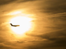 Flying Through the Sun Royalty Free Stock Photography
