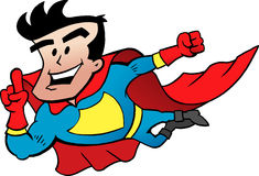 Flying Super Hero Stock Images