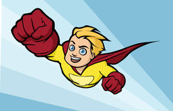 Flying superhero Stock Photo