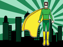 Flying superhero Royalty Free Stock Photo