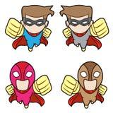 Flying superhero Royalty Free Stock Photography