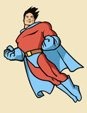 Flying superhero Royalty Free Stock Image