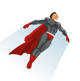 Flying superhero Stock Image