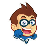 Flying superhero. Vector clipart picture of a flying superhero cartoon character Stock Photos