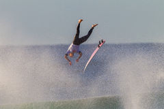 Flying Surfer Board Exit  Royalty Free Stock Photography