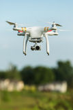Flying Surveillance Drone Royalty Free Stock Image