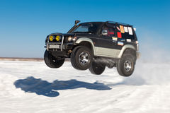 Flying SUV Stock Image