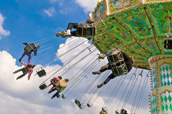Flying swing attraction Stock Photography