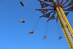 Flying swing carousel Royalty Free Stock Image