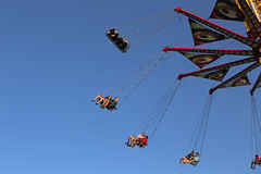 Flying swing carousel Royalty Free Stock Photo