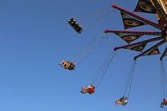 Flying swing carousel Royalty Free Stock Photo