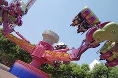 Flying swing. In chengdu happy valley,China Stock Photo