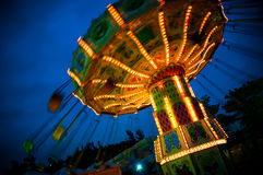 Flying Swing in the night Stock Images