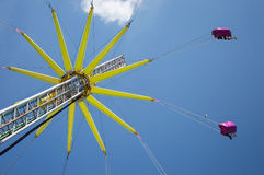 Flying Swing in the summer royalty free stock image