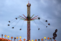 Flying Swings Ride Royalty Free Stock Photography