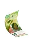 Flying Swiss money Stock Photos