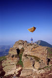 Flying tent Royalty Free Stock Photography