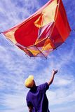 Flying tent Stock Photo