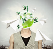 Flying thoughts Royalty Free Stock Image