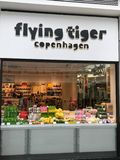 Flying Tiger Copenhagen store royalty free stock photos