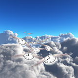 Flying Time Stock Photography