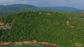 Flying to Samui Tropical Island, Thailand. Aerial View. Flying to Samui Tropical Island, Thailand stock footage