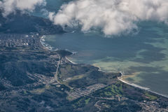 Flying in to San Francisco Royalty Free Stock Image