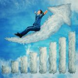 Flying to success royalty free stock image