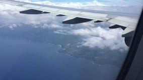 Flying towards hawaii stock video