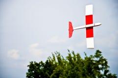 Flying toy plane Stock Photo