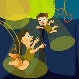 Flying trapeze Stock Photo