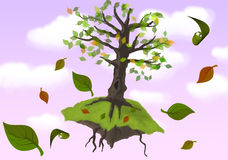 Flying tree Stock Photo