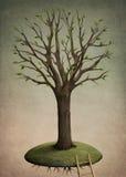 Flying tree Stock Image