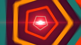 Flying trough futuristic tunnel with polygonal shape stock footage