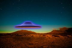 Flying UFO Royalty Free Stock Photo
