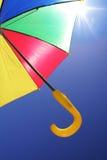 Flying umbrella Royalty Free Stock Image
