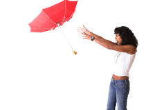 Flying umbrella Stock Photos